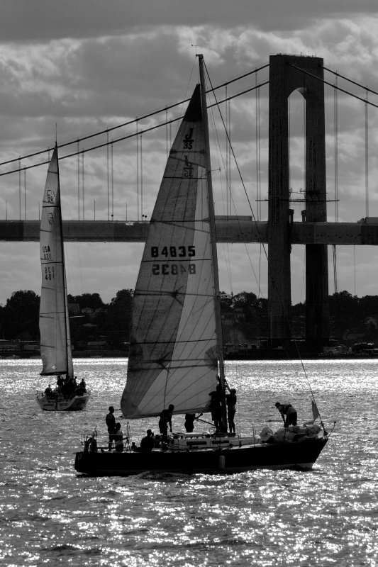 Cadets Practicing Their Sailing Skills