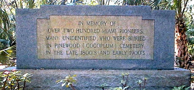 Pinewood (Cocoplum)  Cemetery, Coral Gables