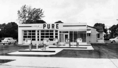 1959 Pure Oil Station Shaw Brothers Oil Co At
