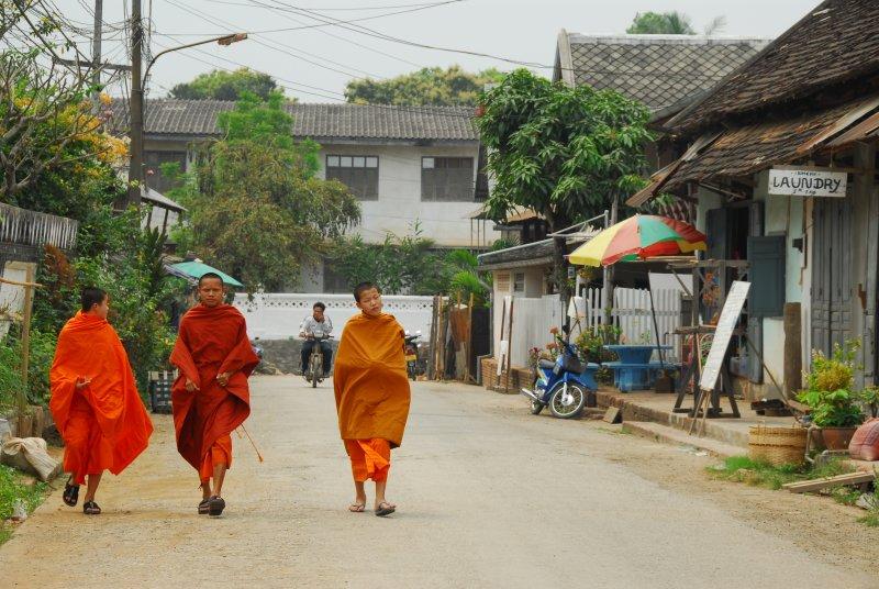 Three Luang Prabang Monks