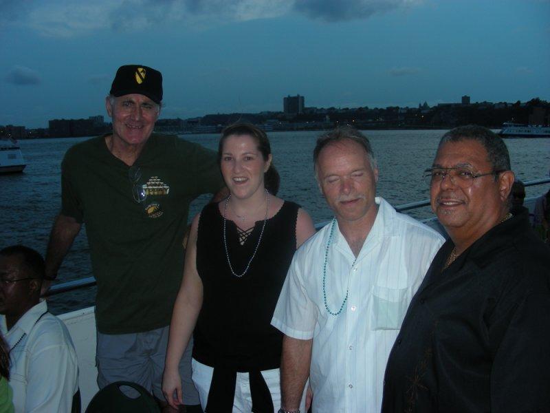 L-R Patrick Mann, Judy Rodriguez, Jimmy Jawor, Rafael (Tica) Mendoza