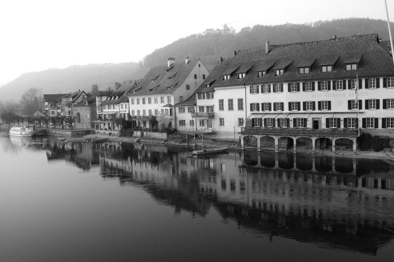 Old Postcard of Stein am Rhein in the 21st Century 1