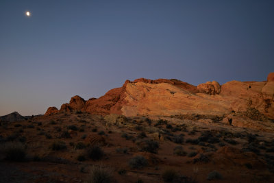 Moonset in the Valley of Fire