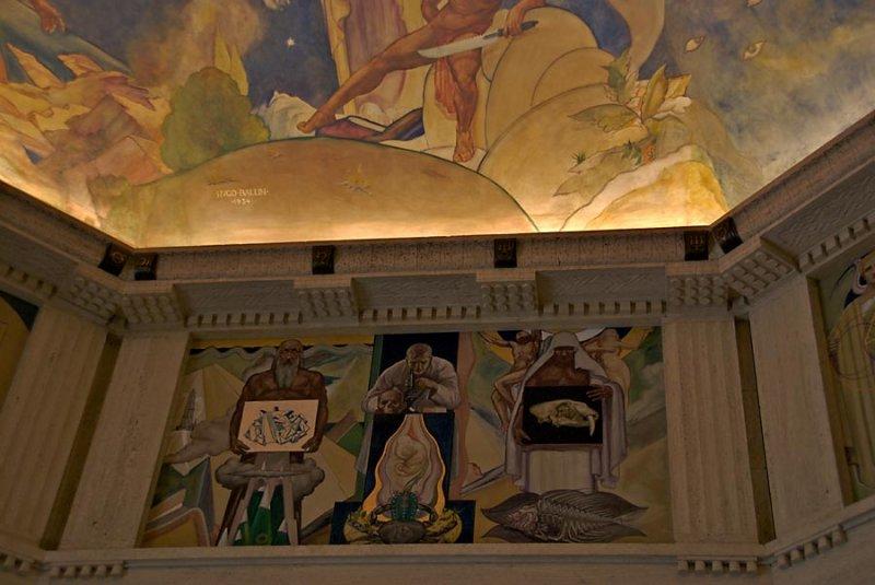 Fresco above rotunda