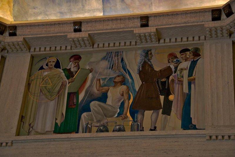 Fresco above main rotunda