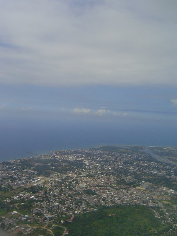 La Ceiba from the air