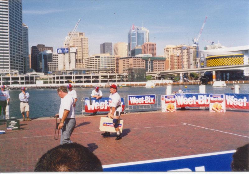 220kg carry Darling Harbour 1998