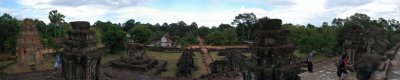 The Scenic View from Top of Bakong, Rolous Group (Siem Reap, Cambodia)