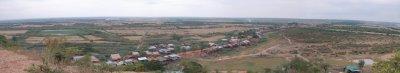 Panoramic view of Chong Kneas (Tonlé Sap, Cambodia)