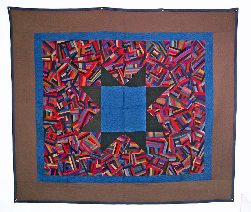 100: Crazy Star, Arthur, IL circa 1920, 63x 73 wool