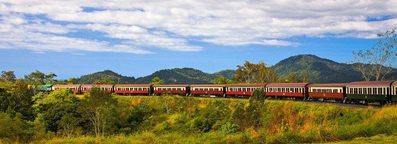 Kuranda Scenic Railway train panorama