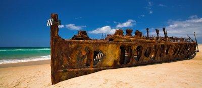 Maheno ship wreck on Fraser