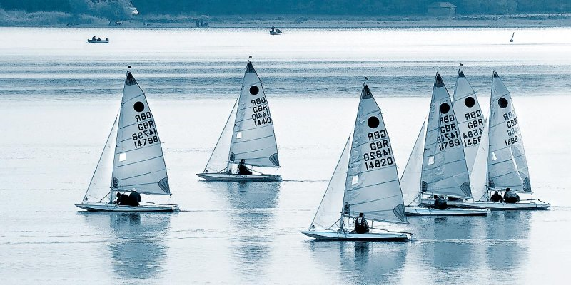 Yachts in blue, on Chew