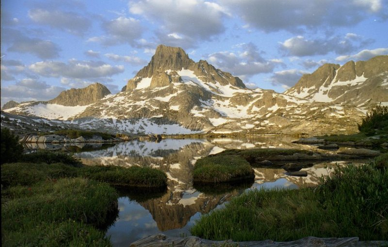 Banner Peak from Thousand Island Lake.