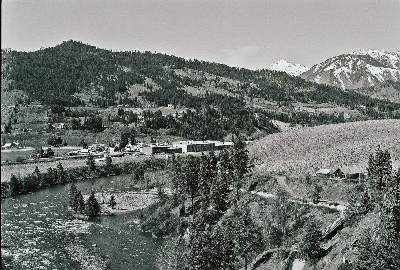 Wenatchee River And Valley Near Dryen Washington