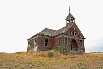 Govans  Little Red School House ( Closed 1942) Six Miles Past Almira