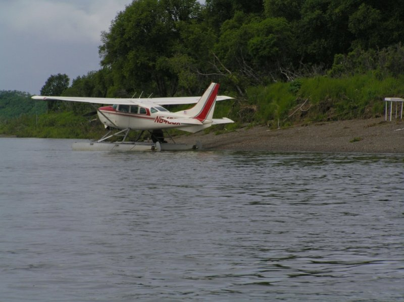 we go out to fishing spots in float planes