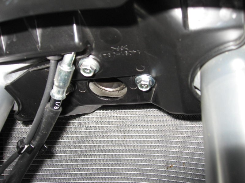 Stock horn removed