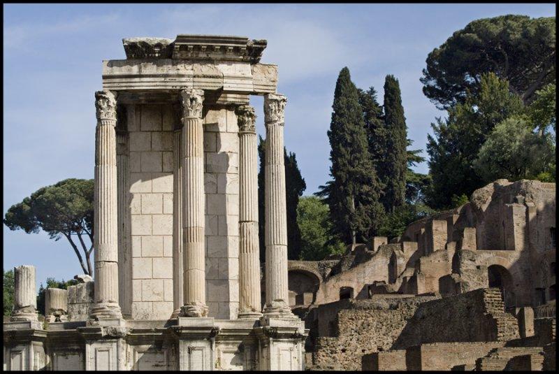 Temple of Vesta, home of the Vestal Virgins
