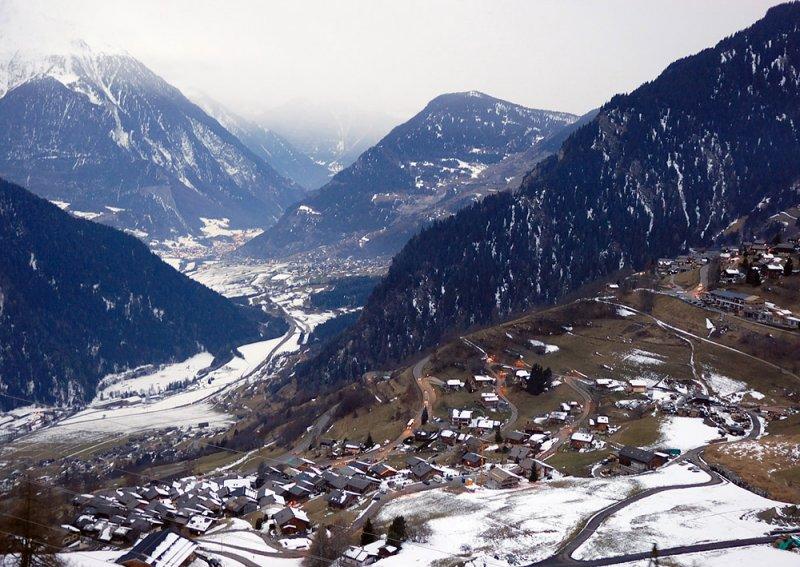 View over Lower Verbier toward Martigny
