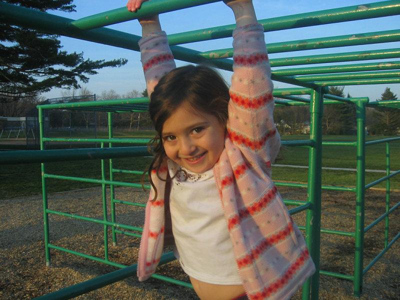 Sophia on the monkey bars<br>8702 *