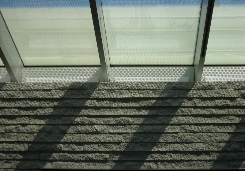 A Detail of the Windowed Roof and Wall of the Perelman Building