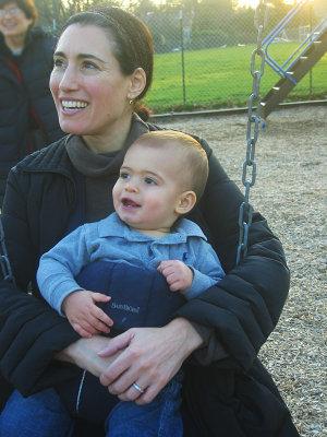 Beth holding Spencer<br>8741