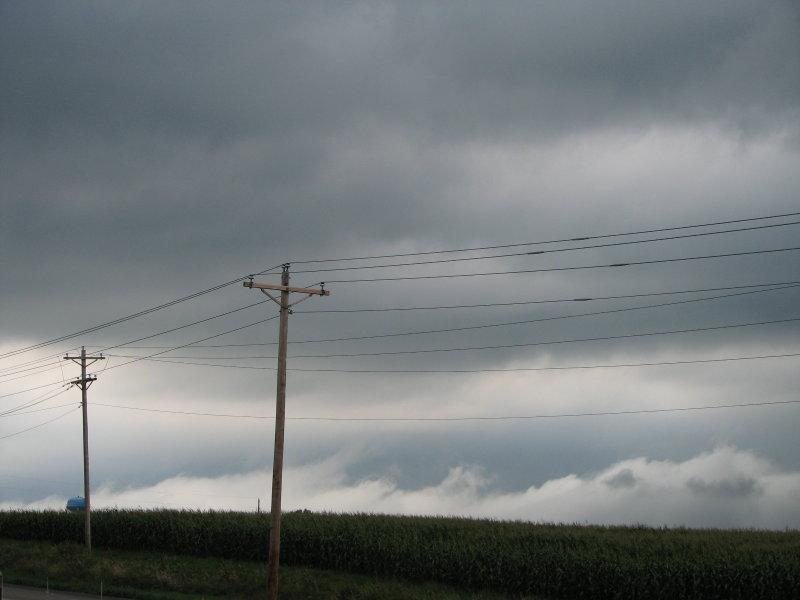 stormy noon sky