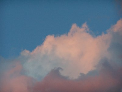 soft colored clouds
