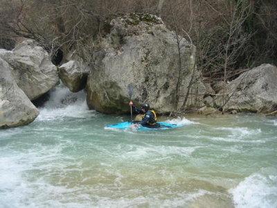 Volturno altissimo in kayak