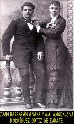Juan Barragán Anaya y su esposa
