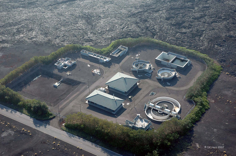wastewater treatment in a lava field