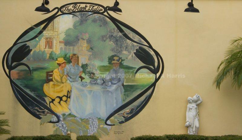 The Black Tulip Mural - Cocoa Village