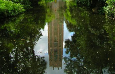 Reflection of Bok Tower