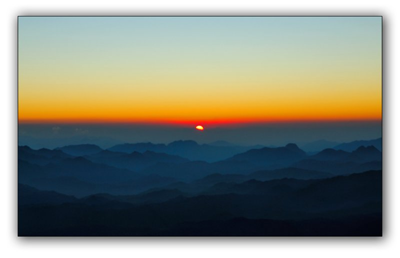 Sunrise on Sinai mountain