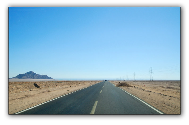 the road near Sharm El Shaikh