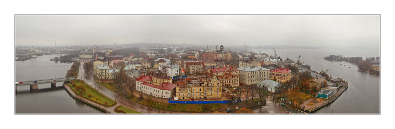 Vyborg, panorama from the Olafs tower