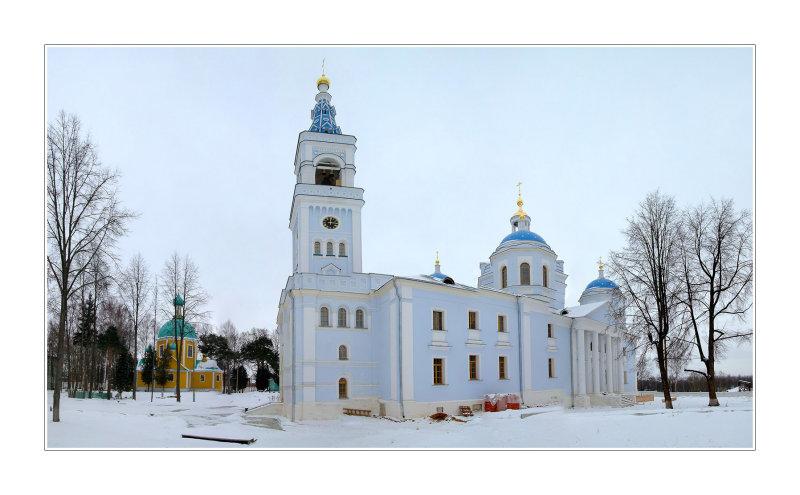 restored church (Spasskaya - the Saviour) in Dedenevo, Moscow region, 1811