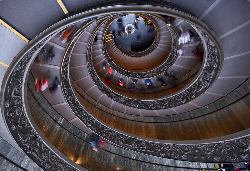 Vaticano, double helix Staircase. Designed in 1932 by Giuseppe Momo