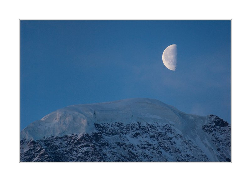 moon over Mount Donguz-Orun, 4454 m