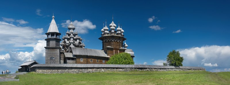 Karelia, the architectural complex of Kizhi pogost on the island of the same name in lake Onega
