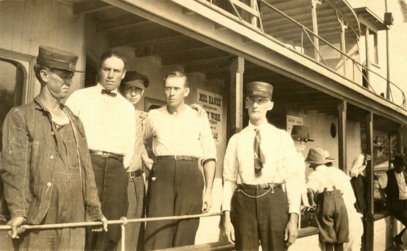 Capt Bruce Root, Engineer Mike Wagner, Merril Root, Clate Elston