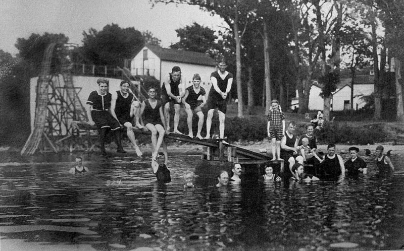 Swimming Arnolds Park 1910