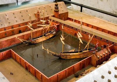Skipene kunne bukseres rett inn i Tøjhusanlegget