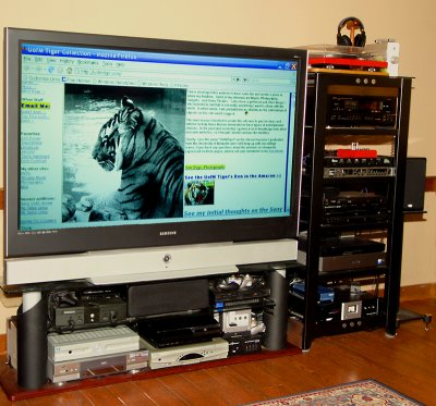 Here Was The Old Setup (This TV Is Now In My Bedroom   Waiting On Speaker  Stands Before I Take New Pics):