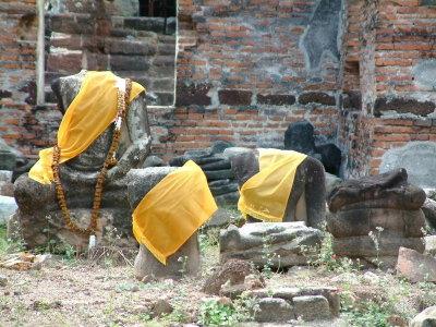 Buddha Statutes -- Headless But Still Honored