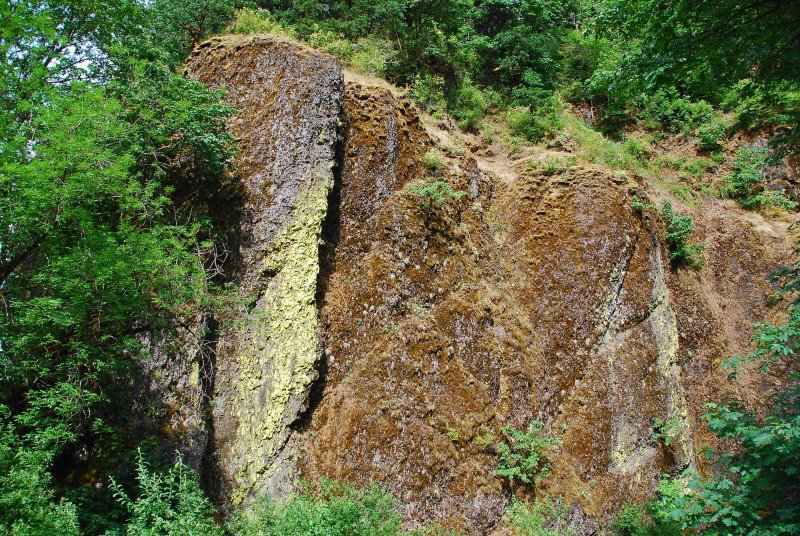Cliff at Multnomah Falls, Portland, OR