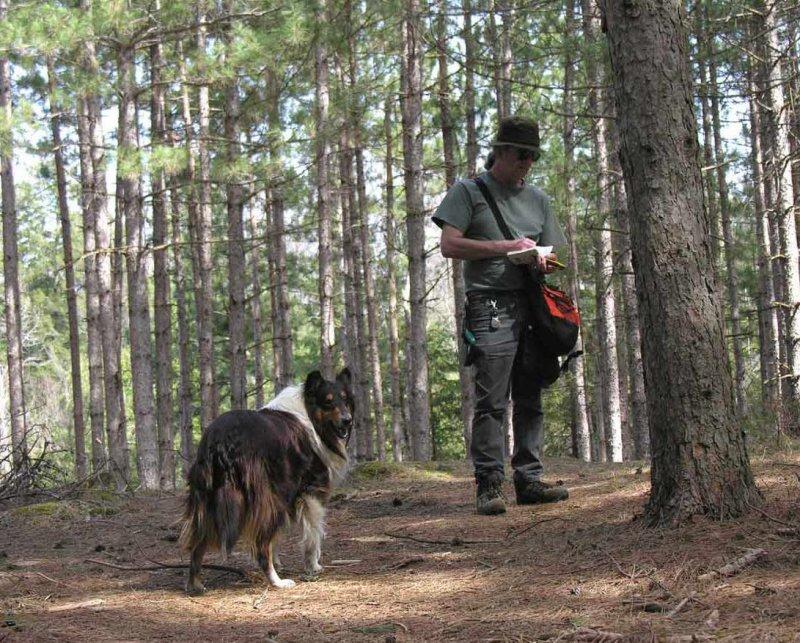 Don & Sabrina taking GPS reading at Baird Woods