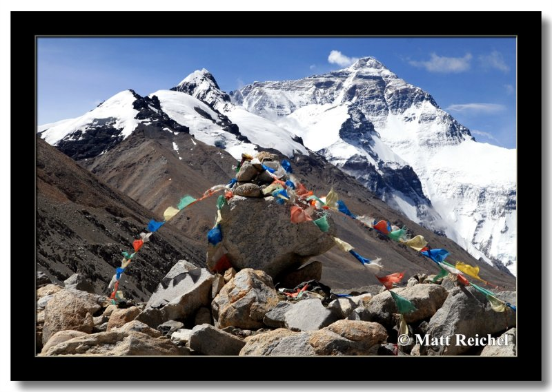 Mount Everest as seen from above Base Camp, Tibet
