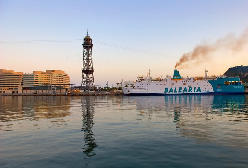 Balearia Ferry In Port Vell